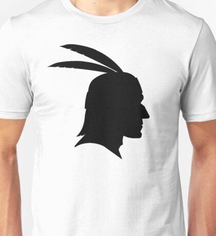 Native American Indian Man, Silhouette Unisex T-Shirt