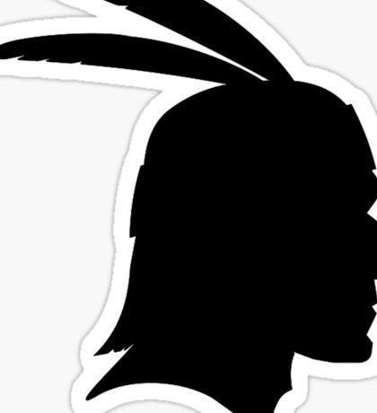 Native American Indian Man, Silhouette Sticker