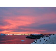 Antarctic Sunset Photographic Print