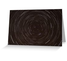 Circumpolar Startrails Greeting Card