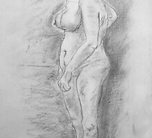 Female Nude Life Drawing by MidgeACE