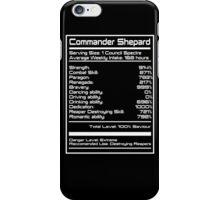 Mass Effect - Shepard Stats iPhone Case/Skin