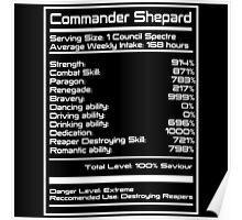 Mass Effect - Shepard Stats Poster