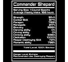 Mass Effect - Shepard Stats Photographic Print