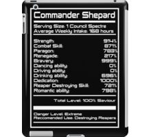 Mass Effect - Shepard Stats iPad Case/Skin