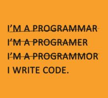 I write code (Black Version) T-Shirt