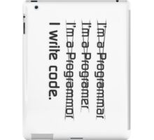 I write code (Black Version) iPad Case/Skin