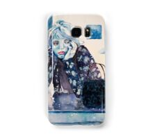 blue girl in the blue cafe  Samsung Galaxy Case/Skin