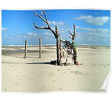 Temporary available art on beach Poster