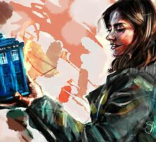 Clara Oswald and The Tiny TARDIS by Shani Bergman