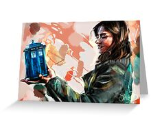 Clara Oswald and The Tiny TARDIS Greeting Card
