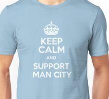 keep calm support man city Unisex T-Shirt