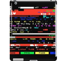 Glitched Teletext Page iPad Case/Skin