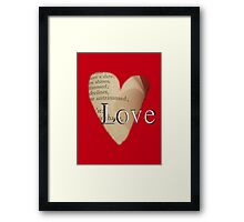 Love In Shakespeare Framed Print