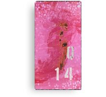 Trashed, scratched, rusted and dented - Q 14 Pink Canvas Print