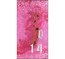 Trashed, scratched, rusted and dented - Q 14 Pink Photographic Print