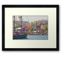 final. volvo ocean race. end of  race in Lisbon. Framed Print