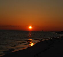 Sunset over Fort Pickens by GFORCE