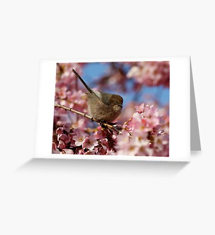 Poised Among Abundant Blossoms Greeting Card
