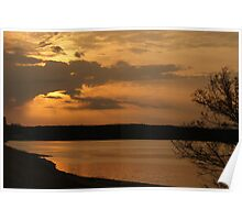 Winter Sun on the Tennessee River Poster