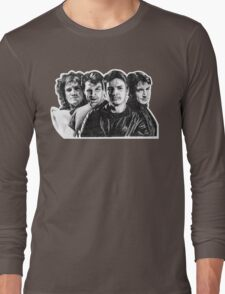 The Many Faces of Nathan Fillion Long Sleeve T-Shirt