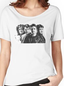 The Many Faces of Nathan Fillion Women's Relaxed Fit T-Shirt