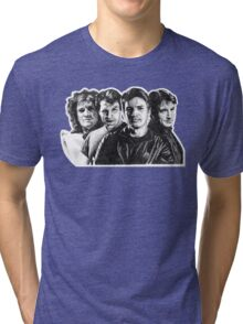 The Many Faces of Nathan Fillion Tri-blend T-Shirt
