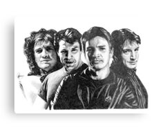 The Many Faces of Nathan Fillion Metal Print