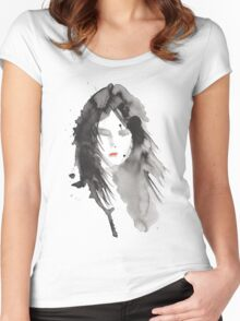 ink girl 2 Women's Fitted Scoop T-Shirt