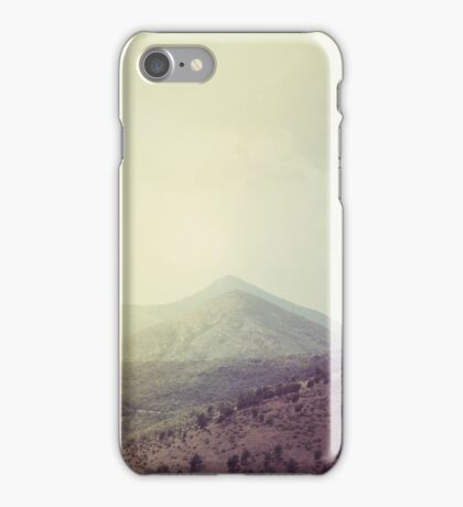 Mountains in the background III iPhone Case/Skin