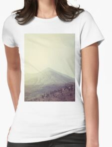 Mountains in the background III Womens Fitted T-Shirt
