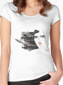 ink girl 3 Women's Fitted Scoop T-Shirt