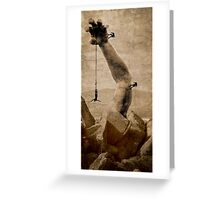 The upper hand...higher heights Greeting Card