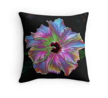 fantastic hybiscus Throw Pillow