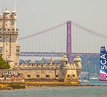 belem tower. sca girls team. volvo ocean race 2015.lisbon.portugal by terezadelpilar~ art & architecture
