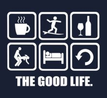 Funny Surfing T Shirt The Good Life by DesignMC