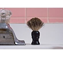 The shaving brush Photographic Print