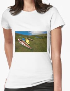 Abandoned canoes Womens Fitted T-Shirt
