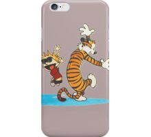 calvin and hobbes dancing with music iPhone Case/Skin