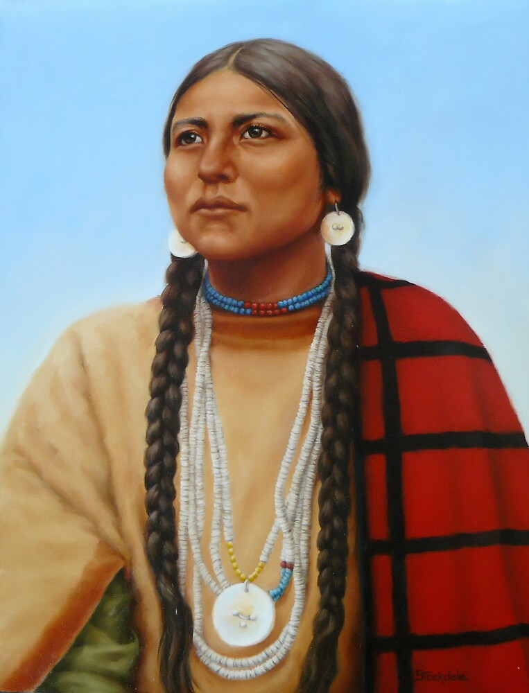 Spirit And Dignity-Native American Woman by Margaret Stockdale