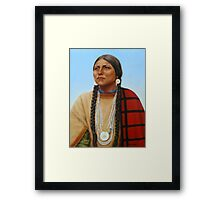 Spirit And Dignity-Native American Woman Framed Print