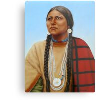 Spirit And Dignity-Native American Woman Metal Print