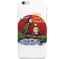 calvin and hobbes meets jason iPhone Case/Skin