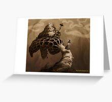 Caterpillar Aloft Greeting Card