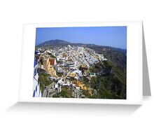 On the cliff - View across collapsed caldera Greeting Card