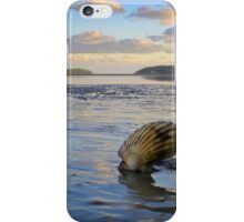 Shell on the beach iPhone Case/Skin