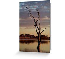 First Light,Lake Fyans Grampians Greeting Card