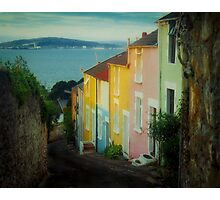 Fishermen's cottages in Mumbles Swansea  Photographic Print