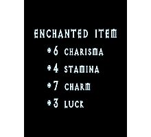 Enchanted Item Bonus Stats RPG T Shirt Photographic Print