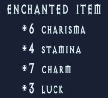 Enchanted Item Bonus Stats RPG T Shirt One Piece - Short Sleeve